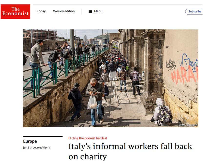 Gli Amici della Zizzi sull'Economist